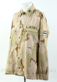 KL Air force jasje voor training in Amerika - rang Majoor air defense artillery - met Amerikaanse insignes- Maat 6080/0005 - Origineel