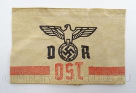 WO2 Duitse armband DR Deutsche Reichsbahn Ost. - afmeting 19,5 x 13 cm - replica