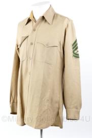 USMC  Gunnery Sergeant overhemd met lange mouwen - maat M/L - origineel