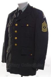 US Army Class A jacket 101st Airborne Division Master Sergeant - met originele insignes - maat 41R - origineel