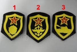 Russisch USSR embleem - alleen nog infanterie beschikbaar - 8 x 6,5 cm. - origineel