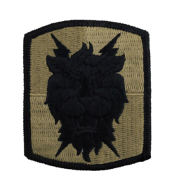 US Army Signal Brigade patch subdued - 7 x 6 cm - origineel