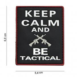 Embleem 3D PVC PVC - met klittenband - Keep Calm and be Tactical -6,8 x 5,4  cm