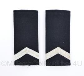 Kmar Marechaussee epauletten paar zwart wol - vorig model - origineel
