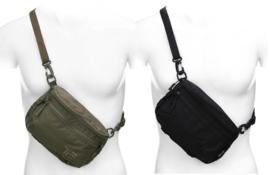 EDC Everyday Carry TF-2215 schouder- en heuptas met draagriem - 23 x 15 x 8 cm - groen of zwart