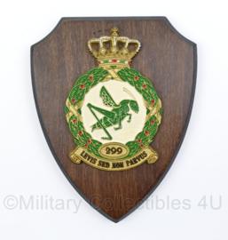 KLU Koninklijke Luchtmacht 299 Squadron Grasshoppers wandbord - 18,5 x 14,5 x 1,5 cm - origineel