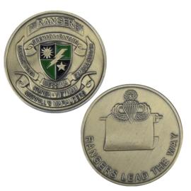 US 1st Rangers BN coin - Ranger lead the way - 40 mm diameter