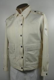 Politie jas zomer - Dames - wit met donkere of witte kraag - maat 44 - origineel - (art.nr. 14)