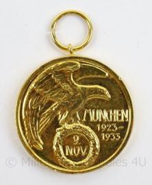 WO2 Duitse Blutorde medaille goud - Munchen 1923/1933 - doorsnede 4 cm - replica
