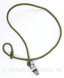 Defensie instructeursfluit met koord - merk The Acme Thunderer 79 cm koord -