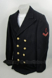 Koninklijke Marine korte Mantel met insignes 50'er jaren -maat 48 -  origineel