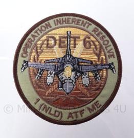 "KLu Koninklijke Luchtmacht ""Operation Inherent Resolve"" -  met klittenband - diameter 10 cm"