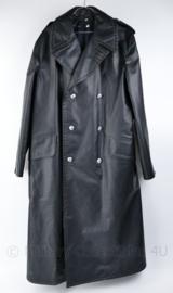 Korps Rijkspolitie lange mantel van kunstleder - met uitritsbare voering - maat 51 - origineel