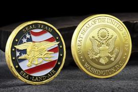 USN US Navy Seal Team coin Sea, Land, Air - 40 mm diameter