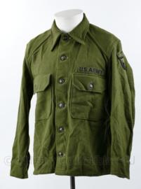 US Korea oorlog M51 Field shirt wool 101st Airborne Division - maat M - origineel
