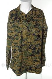 US Marine Corps Marpat jas - Digital Woodland - med-long - met insignes - origineel