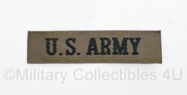 US Army Klein model borst naamlint - 9,5 x 2,5 cm - origineel
