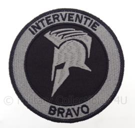 "Nederlandse Politie ""Interventie Bravo"" embleem -  met klittenband - diameter 9 cm"