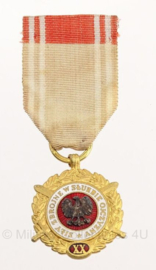Poolse leger medaille 20 jaar trouwe dienst - origineel