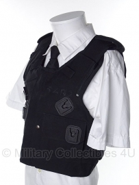 Britse politie kogel- en steekwerend vest hoes- (zonder inhoud) - model met 2 zakken en 4 portofoon houders - origineel