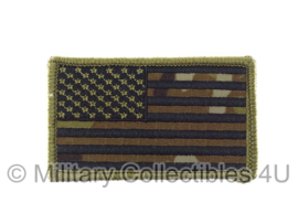 US Army American Flag met klittenband - black thread, forward, non regulation - multicamo background