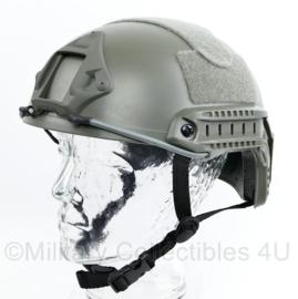 Politie en DSI MICH fast helm foliage Wolf Grey  - replica