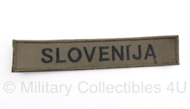 "Sloveens naamlint ""slovenija"" - 16 x 2,5 cm - Origineel"