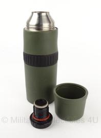 KL Nederlandse leger thermosfles met scheur 30 cm - groen - origineel