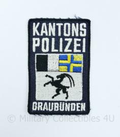 Zwitserse Polizei Kantonspolizei Graubünden embleem - 6 x 9,5 cm - origineel