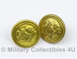 Marine SCHOUDER knoop goud alluminium 16mm - origineel