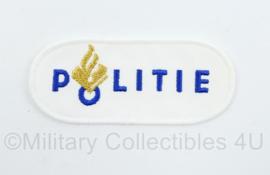 Politie mouw embleem wit - 9,5 x 4 cm - origineel