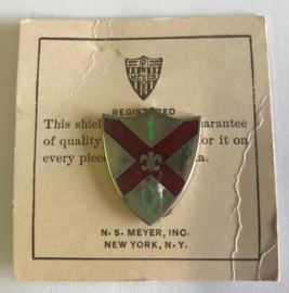 US Army Infantry Regiment Unit Crest embleem metaal - 3 x 2,5 cm - maker Meyer - origineel