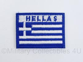Griekse leger Hellas embleem - met klittenband  -  6 x 5 cm - origineel