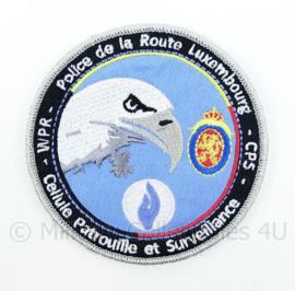 Belgische Politie WPR CPS Police De La Route Luxembourg embleem - met klittenband - diameter 9 cm