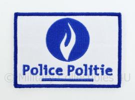 Belgische Police Politie embleem - met klittenband - 10 x 7 cm