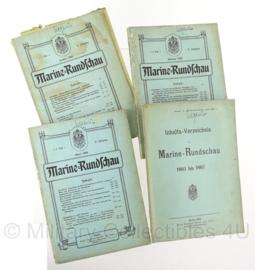 Boek Marine Rundschau - 1903 t/m 1908 - set van 4 boeken - origineel
