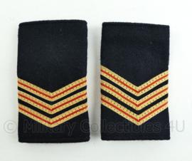 Nederlandse Brandweer zwart wollige epauletten - rang hoofdbrandwacht - paar - origineel