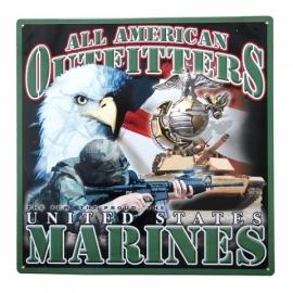 metalen plaat groot U.S marines