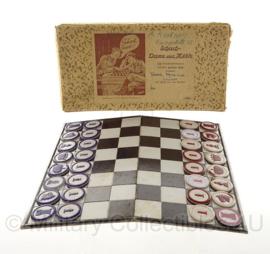 WO2 Duits schaaksetje voor soldaten Schach Dame und Mühle - 40 x 30 cm - origineel