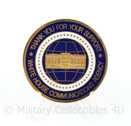 Zeldzame coin White House Communications Agency Support - diameter 4 cm - origineel