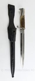 Wo2 Duitse K98 parade bajonet met koppelschuh en luxe grepen van hoorn - maker Gustav Spritzer Solingen - 40 cm - origineel