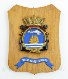 Wandbord Marine Voor Alles Eenheid Squadron I - 18,5 x 14,5 x 1 cm - origineel
