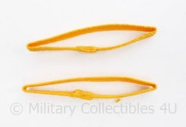 US Army of Bundeswehr shoulder board unit piping yellow - per paar - origineel