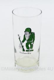 Defensie long drink glas jaren 70 a 80 - De Ouwe Hap - gebruikt - 13 x 6 cm - origineel