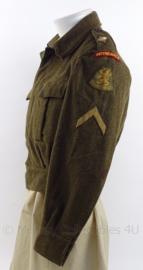 """MVO uniform jasje met rang """"Korporaal"""" - """"Intendance"""" - maat 48 - origineel"""