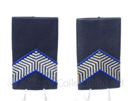 KMAR Koninklijke Marechaussee epauletten - marechaussee der 2de klasse - blauw - 5 x 8,5 cm - origineel