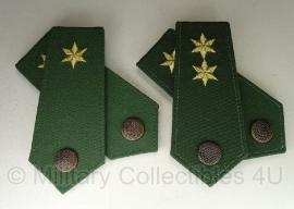 Bundespolizei rangen set - hoogste rang - groen met gele ster - origineel