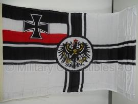 WO1 Duits replica vlag Keizerrijk Reichskriegsflagge / Kaiserliche Kriegsflagge - katoen
