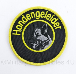 Hondengeleider embleem Geel / zwart - met klittenband -  diameter 8 cm - nieuw