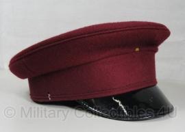 British service cap - bordeaux rood - 55cm - origineel